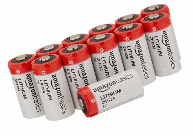 Amazonbasics Cr123a Lithium Batteries 3v 12 Pcs Ebay