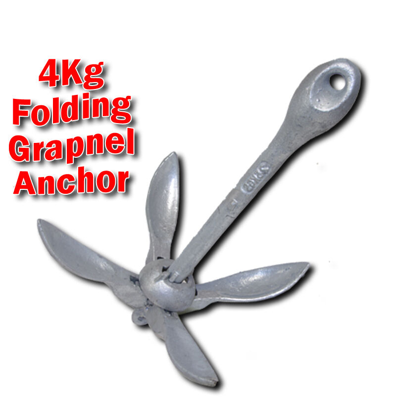 Anchor -  4 kg Folding Grapnel Boat Anchor