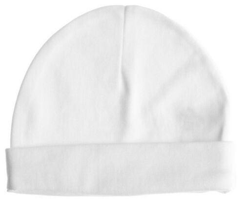 333516 Baby Jay 100/% Cotton White Baby Pull on Hat Cap Boy Girl 0-3-6-12 Months