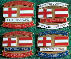 England-v-Austria-2006-World-Cup-Qualifier-Manchester-8-October-2005-Pin-Badge