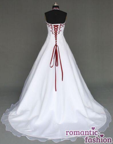 Hochzeitskleid Maßanfertigung alle Größen Weiß oder Creme+W021nM♥ ♥Brautkleid
