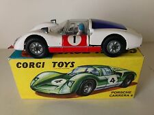 CORGI TOYS PORSCHE CARRERA 6 RACE CAR - No. 330 - GOOD W/BOX 1967-1969 VINTAGE