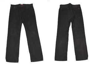 HUGO BOSS Droit Jambe Denim Noir Hommes Jean Taille Compatible Avec W36 L34