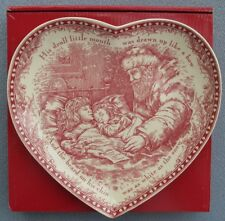 Johnson Brothers Twas the Night Before Christmas Heart Shaped Dish New In Box
