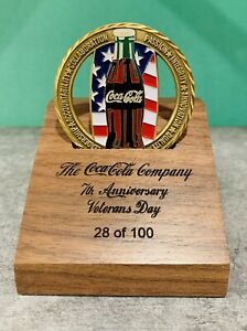 2006-Coca-Cola-Veterans-Day-RARE-Challenge-Coin-VIP-Box-Set-Numbered-to-100