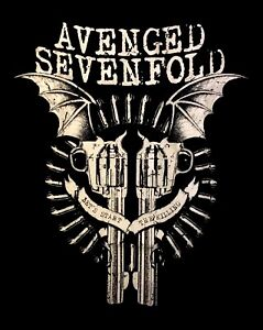 AVENGED SEVENFOLD cd lgo Lets Start the Killing BAT GUNS Official SHIRT XL new