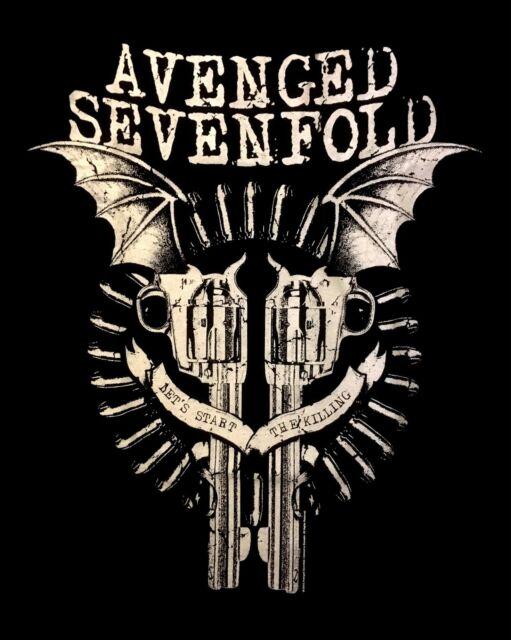 AVENGED SEVENFOLD cd lgo Lets Start the Killing BAT GUNS Official SHIRT XL new