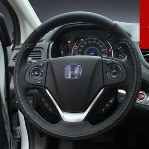 For Honda Crv 2017 Car Interior Steering Wheel Cover Black