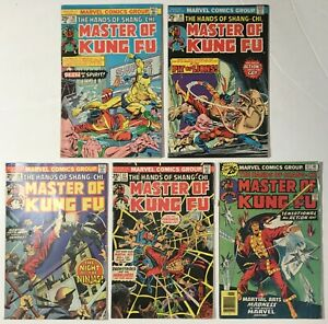 Master-of-Kung-Fu-s-28-30-36-37-41-Lot-of-5-Bronze-Age-Marvel-Comics-1975-1976