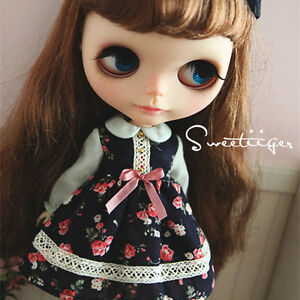 Tii-cute-dress-outfit-12-034-1-6-doll-Blythe-Pullip-azone-Clothes-Handmade-girl