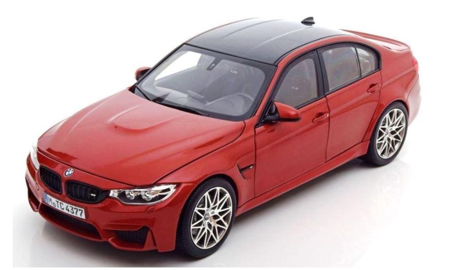 BMW M3 F80 1 18 escala modelo del coche en miniatura coleccionable italiano arancia 80432411553