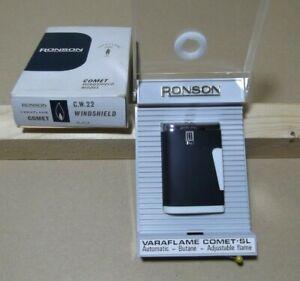 Lighter-Ronson-Comet-Varaflame-Encendedor-Vintage-Con-caja-Working-Briquet