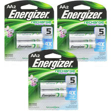 3 Pack Energizer Rechargeable Power Plus AA 2300 mAh Batterie 2 Ea = 6 Batteries