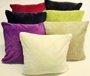 kissenh lle kissen bezug bez ge teddy pl sch kissenbezug microfaser 40x40 cm rv ebay. Black Bedroom Furniture Sets. Home Design Ideas