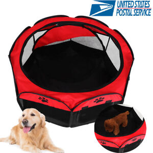 Foldable-Small-Pet-Dog-Cat-Tent-Playpen-Exercise-Play-Pen-Soft-Crate-In-Out-Door