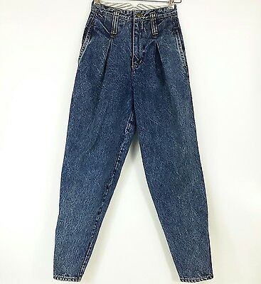 Vtg 90s Mom Jeans 24x29  Pleated Front Tapered 100% Cotton Rio Stephen Mardon