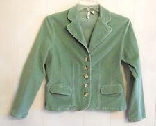 ✿ ST Johns Bay Jacket Celadon Corduroy Fitted Stretch Blazer size PETITE LARGE