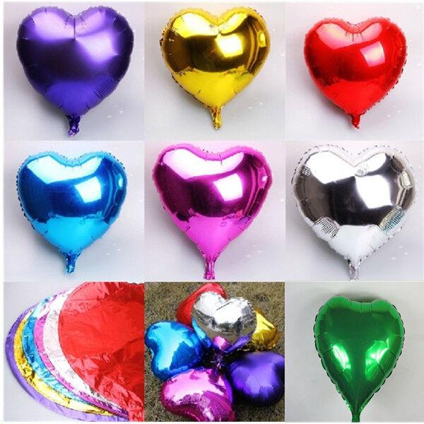 10Pcs Foil Balloons Wedding Birthday Party Celebration Decor Love Heart
