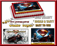 Superman Edible Sugar Cake Topper Man Of Steel Sheet Decal Sticker Image Picture