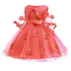 Formal-princess-girl-party-dress-dresses-flower-tutu-baby-wedding-bridesmaid-kid