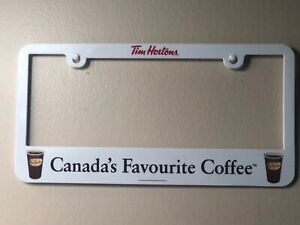 """Tim Hortons License Plate Frame Cover """"Canada's Favourite Coffee"""" Buffalo Sabres"""