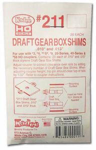 Kadee #211 Styrene Gear Box Shims .010 & .015 inch