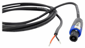 Rockville-RHC10-10-ft-environ-3-05-m-Speakon-to-Bare-Wire-Cable-haut-parleur-16-Jauge-100-cuivre
