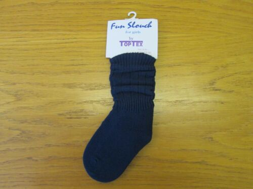 Size - M Colour - Dark Navy - Fun Slouch for Girls Socks by Top Tex -