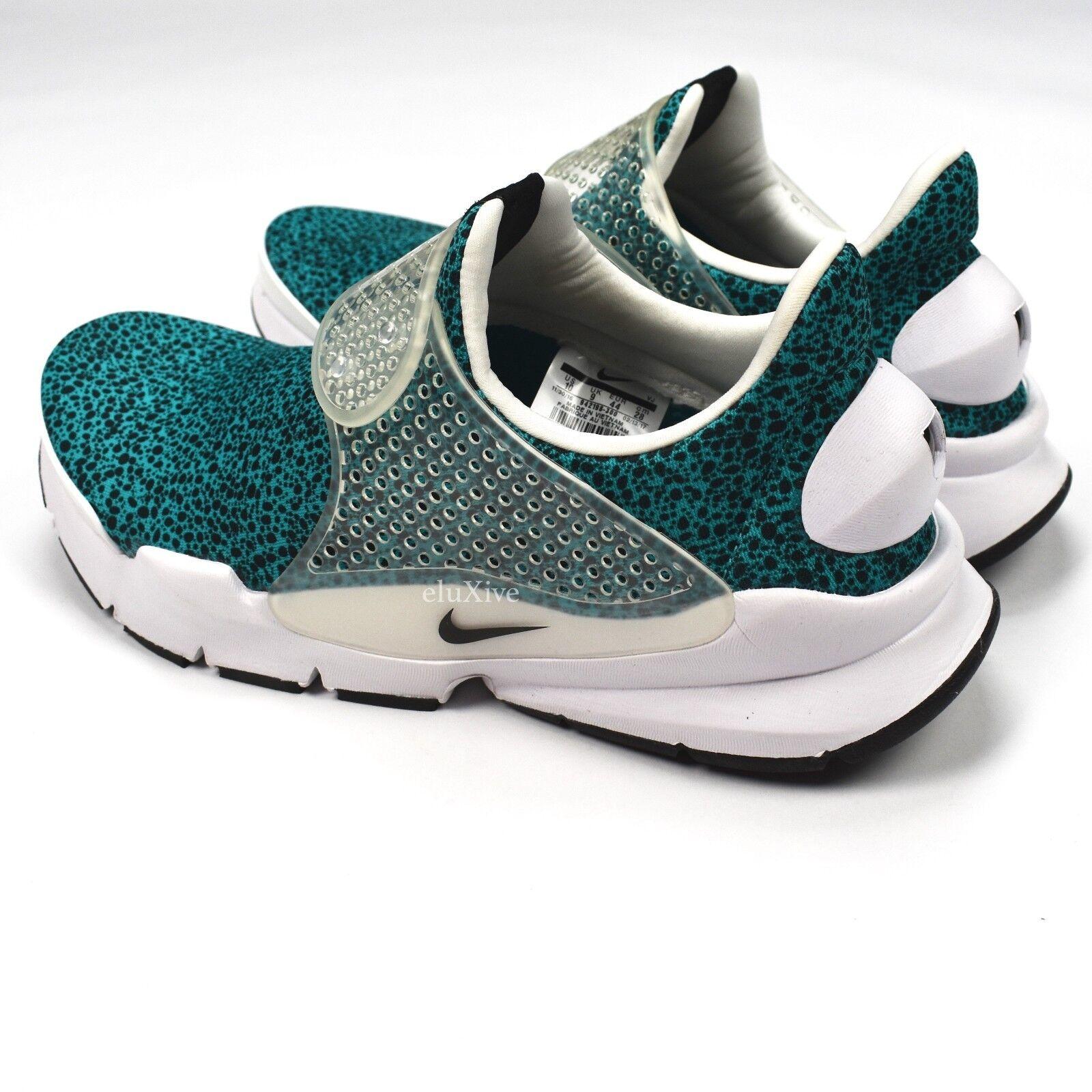 NEW Nike Men's Sock Dart QS Safari Turbo Green Green Green Teal Sneakers 2017 10 AUTHENTIC fc575b