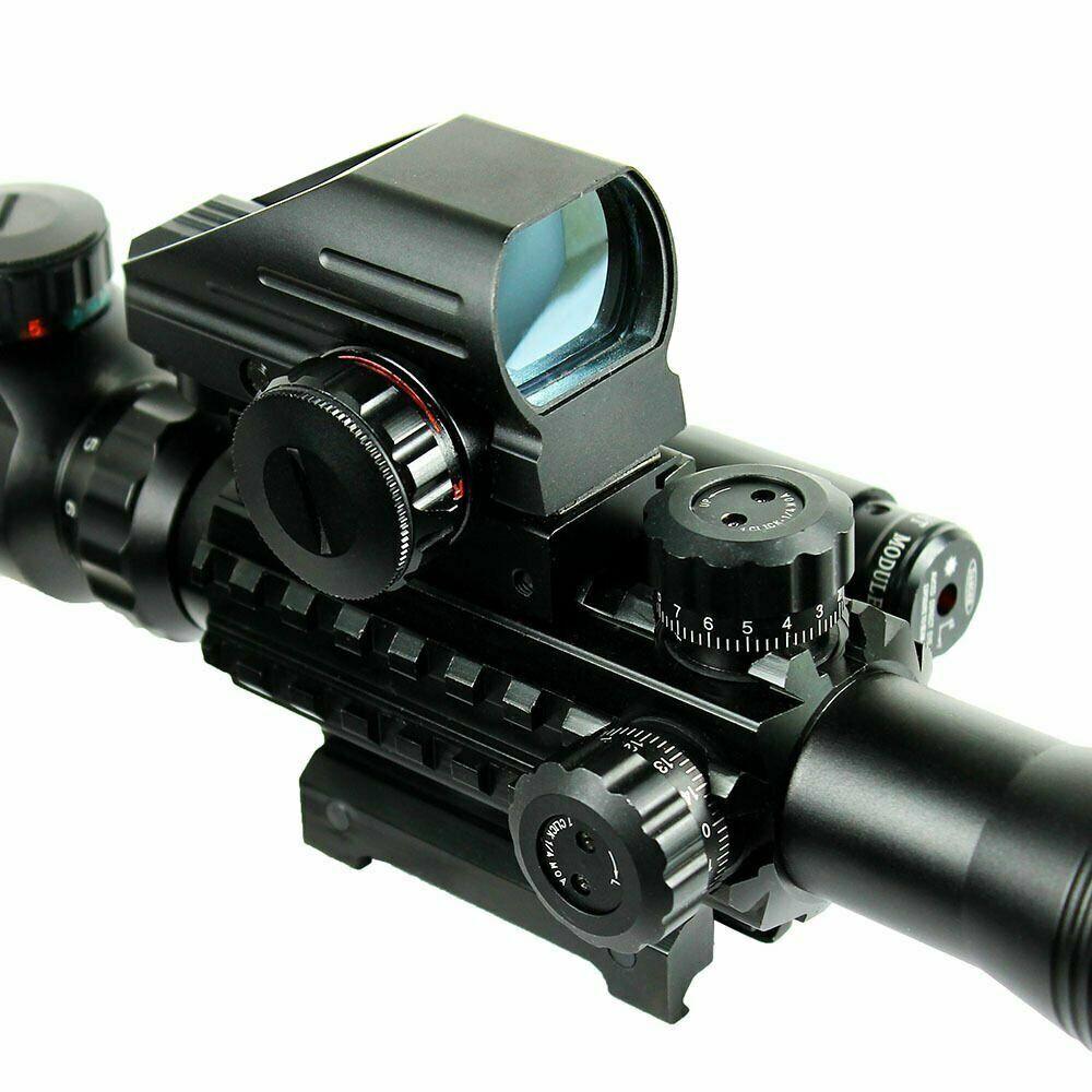 Latinaric 4-12X50EG Zielfernrohr Holographic 4 Reticles Red /& Green Dot Sight Optik Visier scopes f/ür Jagd Luftgewehr
