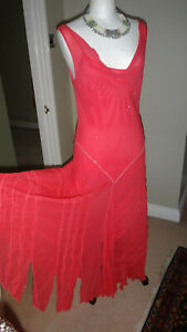 Beautiful-Chesca-Coral-100-Pure-Silk-Maxi-Dress-Wedding-Formal-Occasion-UK-14