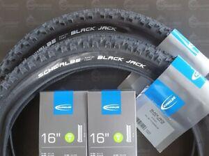 2x MTB Schwalbe Black Jack Reifen 16x1,90  47-305 2 AV Schläuche
