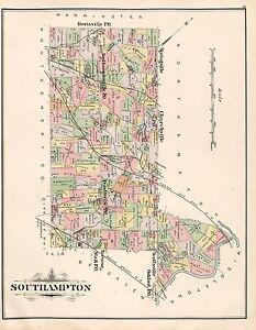 FEASTERVILLE BUCKS COUNTY COPY PLAT ATLAS MAP 1891 SOUTHAMPTON PENNSYLVANIA