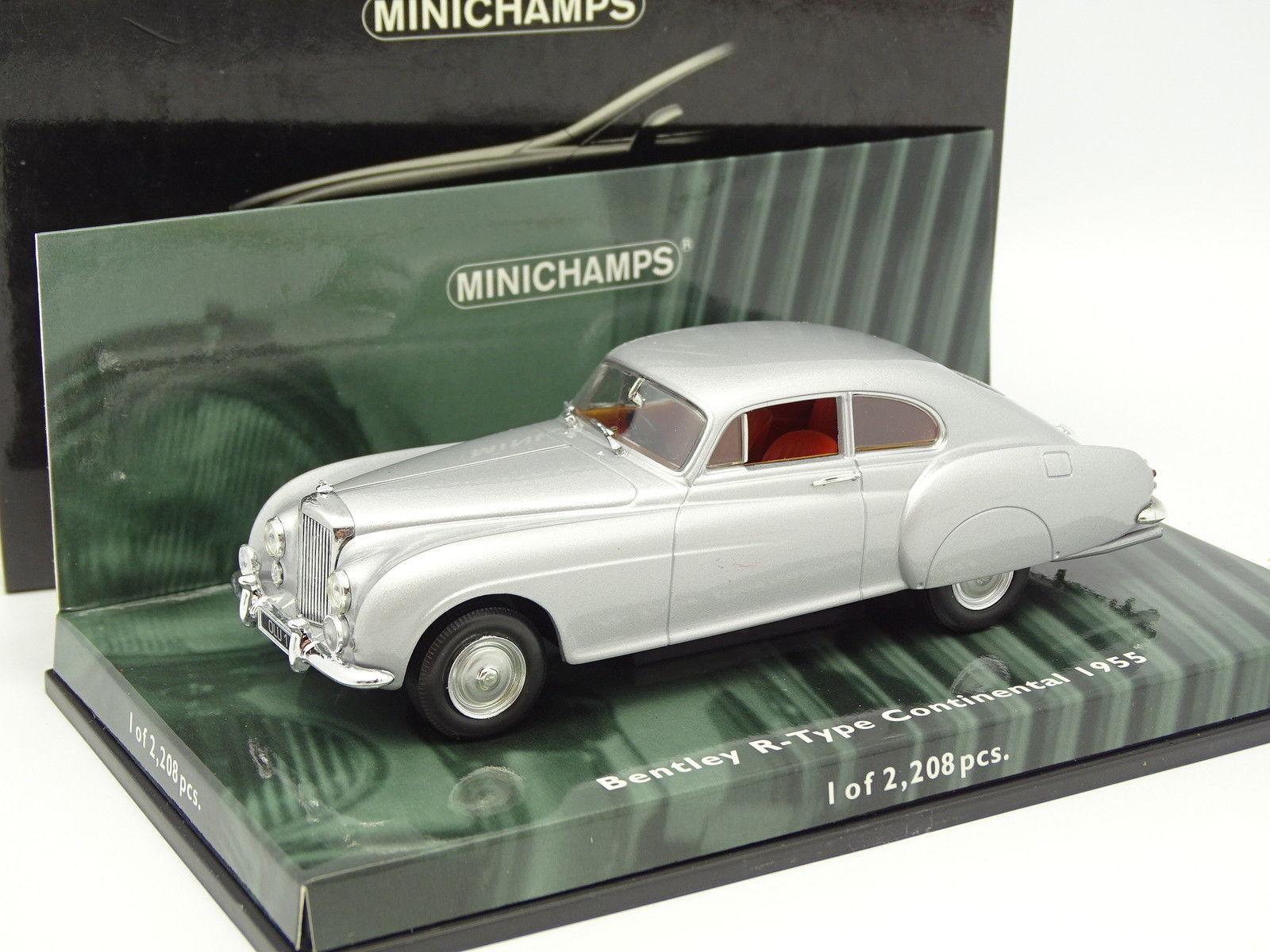sorteos de estadio Minichamps 1 43 - Bentley R Tipo Tipo Tipo Continental plata  increíbles descuentos