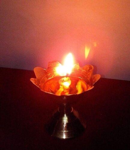 Puja cotton wick long oil lamps diya hindu religious aarti jyot  diwali 3 pcs