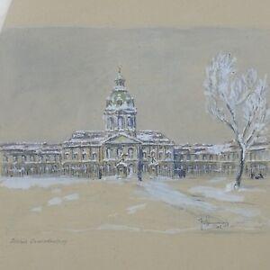 KURT-PALLMANN-1886-1952-SCHLOs-CHARLOTTENBURG-1945-AQUARELL-BLEISTIFT