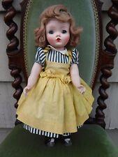 "Vintage Madame Alexander 17"" Binnie Walker Doll Tagged Dress  *issues*"
