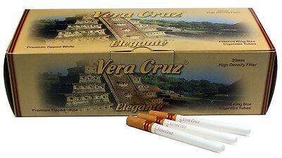 5 (Five) Vera Cruz Elegante Cigarette Tubes (200ct per Carton) RYO/MYO