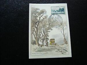 FRANCE-carte-8-3-1952-journee-du-timbre-aix-les-bains-cy10-E