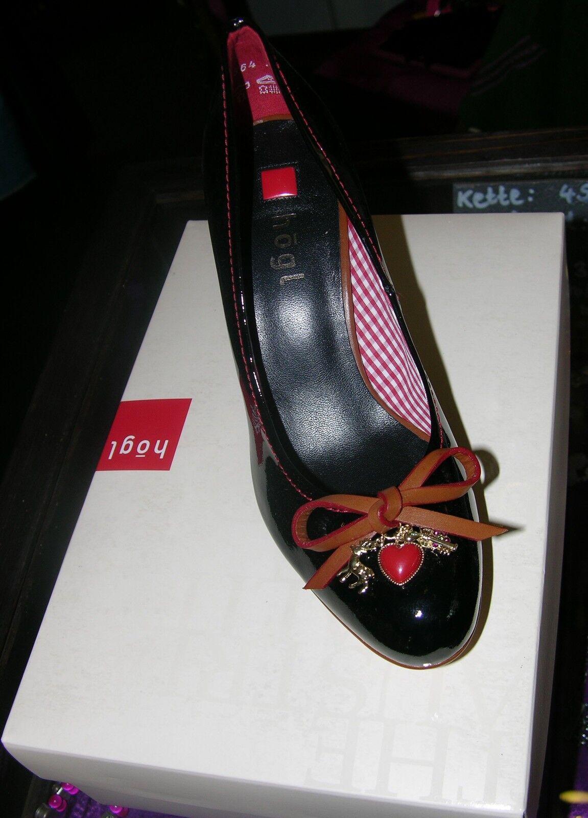 Högl Pumps, Lackleder,schwarz, braun, 5 Dirndl Schuhe, Gr 5 braun ... 6ed41fccaf