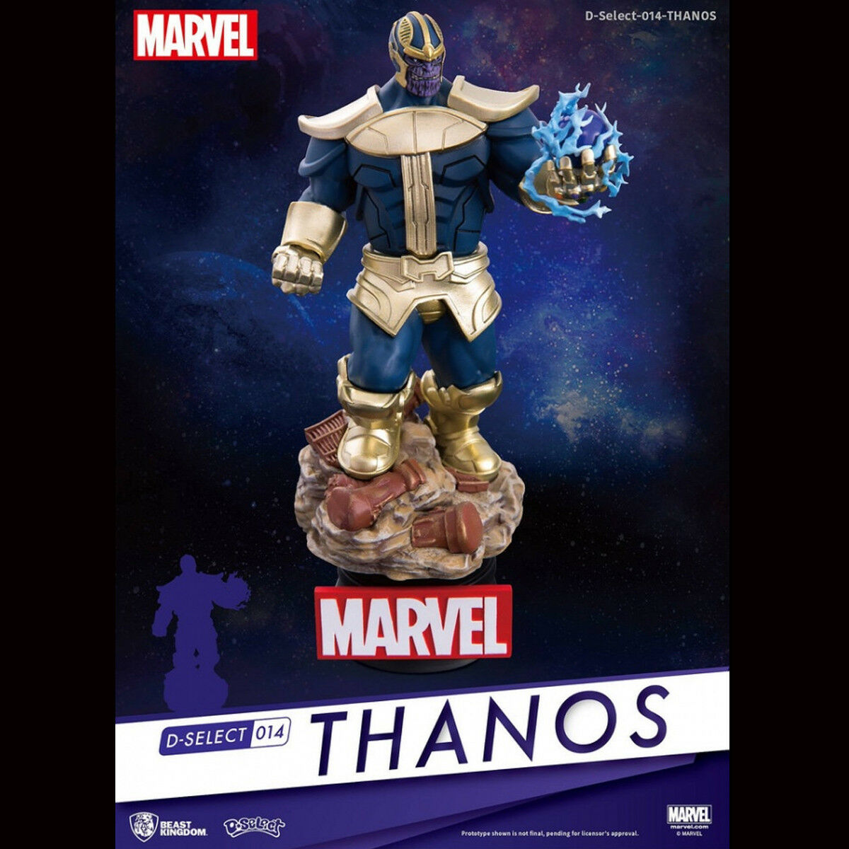 Beast Kingdom D - Select 014 THANOS Marvel Avengers 3 Action Figure Statue Model