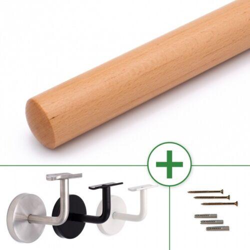Holzhandlauf Buche Ø 40mm lackiert 3mm Fase Wandhandlauf Geländer Handlauf