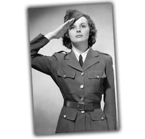 American-girl-military-sexy-Girl-in-uniform-Nice-Woman-War-Photo-WW2-4x6-T