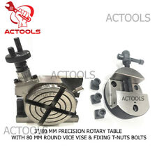 380mm Precision Rotary Table With 80mm Round Vice Vise And Fixing T Nuts Bolts