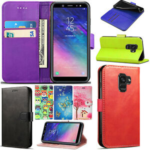 best sneakers f4a54 880fe Details about For Samsung Galaxy J6 2018 Flip Wallet Leather Phone Case  Cover