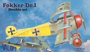 Valom-1-144-Modele-Kit-14407-Triplan-de-Fokker-Dr-I-Dual-Combo-2-X-en-Boite
