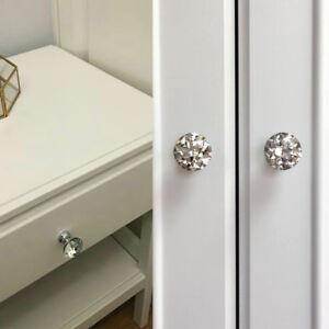 Crystal Glass Closet Door Knobs Cabinet Drawer Pulls for Cupboard Dresser