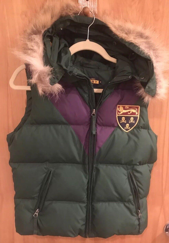 Ralph Lauren Rugby Down Fur Hood Vest Medium