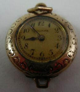 Hallmark Swiss 15JLS 3ADJ 10627501 Gold Tone Watch Pendant 160-22N