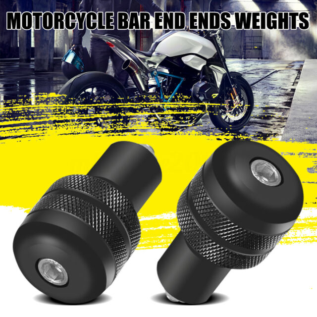 Universal Motorcycle Round Bar End Weight Plugs Sliders 13/18mm Black 22mm 7/8""